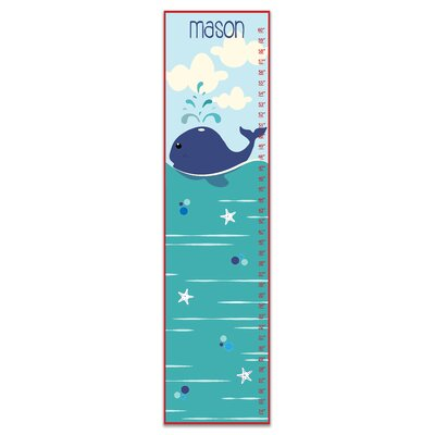 Herring Nautical Whale Personalized Growth Chart