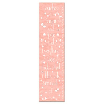 Hertel Sugar and Spice Personalized Growth Chart