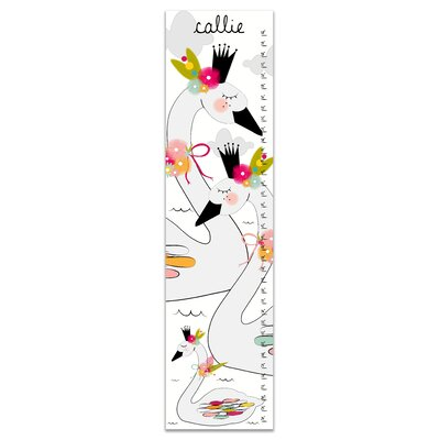 Hershberger Floral Swans Personalized Growth Chart