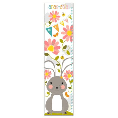 Hershman Bunny in the Garden Personalized Growth Chart