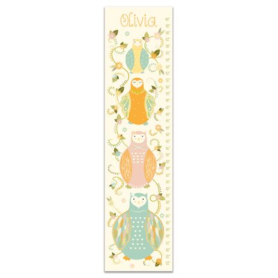 Durazo Floral Owls Personalized Growth Chart
