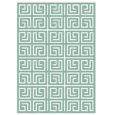 Classic Collection Hand-Woven Greyed Jade Area Rug