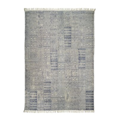 Classic Collection Hand-Woven Navy Area Rug