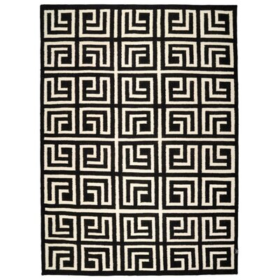 Classic Collection Handmade Black/Yellow Area Rug