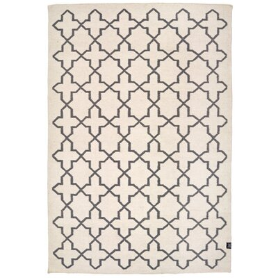 Classic Collection Mediterranean Hand Woven White/Blue Area Rug