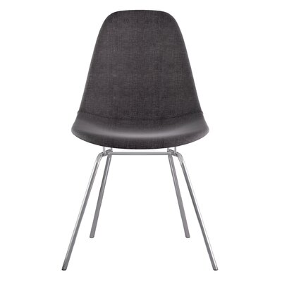 Classroom Side Chair Upholstery: Charcoal Gray, Finish: Nickel