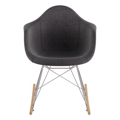 Rocking Chair Upholstery: Charcoal Gray, Color: Nickel