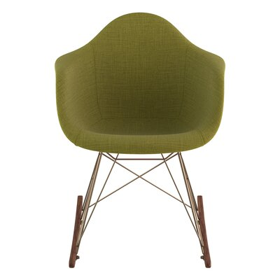 Rocking Chair Upholstery: Avocado Green, Color: Brass
