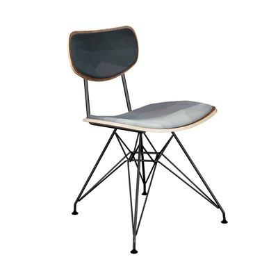 Chapp Upholstered Dining Chair Leg Color: Black, Frame Color: Walnut