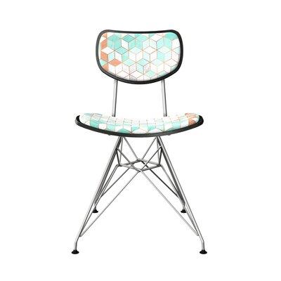 Cutlerville Upholstered Dining Chair Frame Color: Black, Leg Color: Chrome