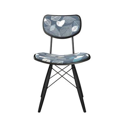 Denmark Upholstered Dining Chair Frame Color: Black, Leg Color: Black