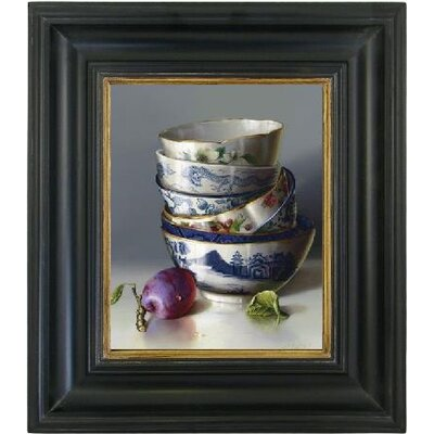 Brookpace Fine Art Oleographs 'Chinese Bowls and Plum' Framed Photographic Print