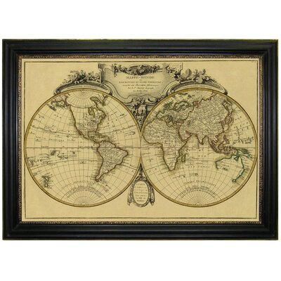 Brookpace Fine Art Vintage Map 'Mappemonde, 1782' Framed Graphic Art