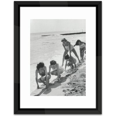 Brookpace Fine Art Models Playing Leap Frog Framed Photographic Print