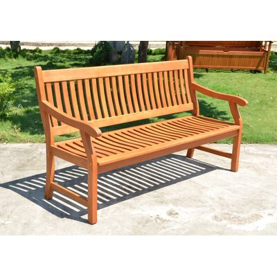 Harms Import New Jersey 3 Seater Eucalyptus Bench
