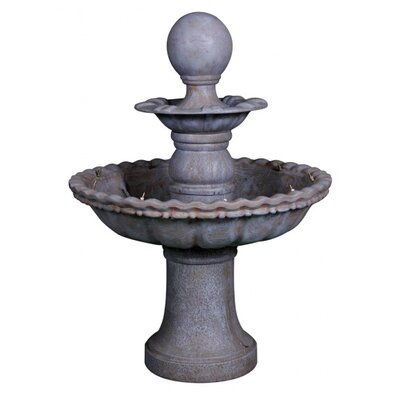 Harms Import Polyresin 2 Tier Fountain