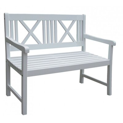 Harms Import Malmö 2 Seater Wooden Bench