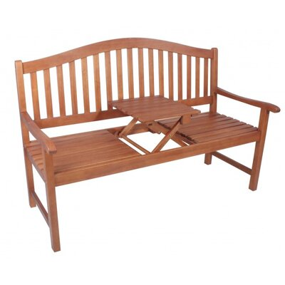 Harms Import Phuket Eucalyptus Bench and Retractable Table