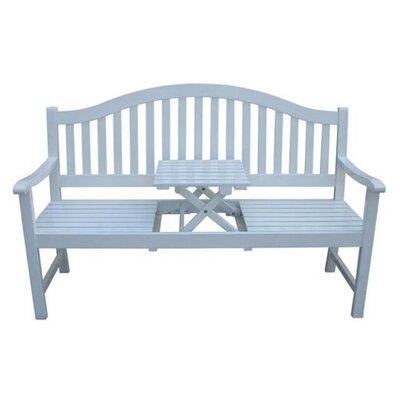 Harms Import Singapur Eucalyptus Bench and Retractable Table