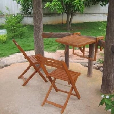 Harms Import Extendable Dining Table and 2 Chairs