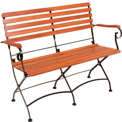 Harms Import Wien Steel/Eucalyptus Folding Bench