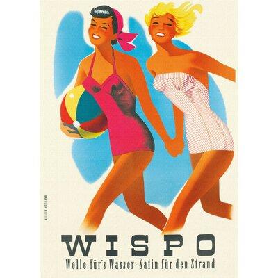 LivCorday Wispo Travel Vintage Advertisement Wrapped on Canvas