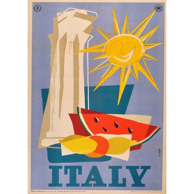 LivCorday Italian Travel Vintage Advertisement Wrapped on Canvas