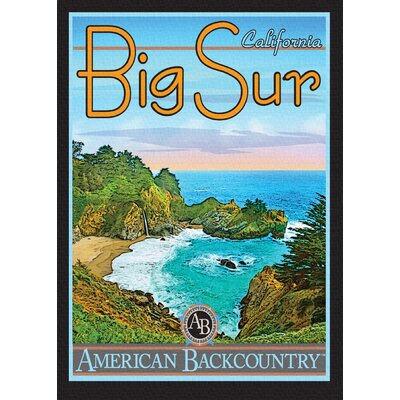 LivCorday Big Sur Vintage Advertisement Wrapped on Canvas