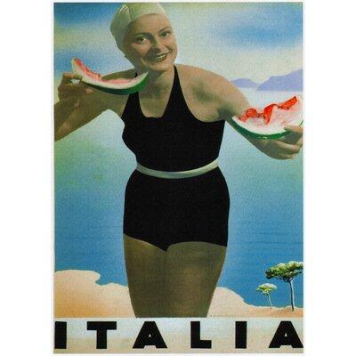 LivCorday Italia Travel Vintage Advertisement Wrapped on Canvas