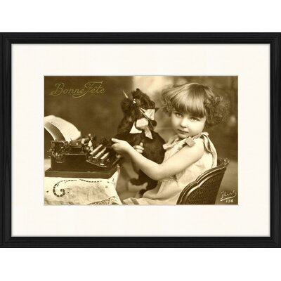 LivCorday Typewriter Framed Photographic Print