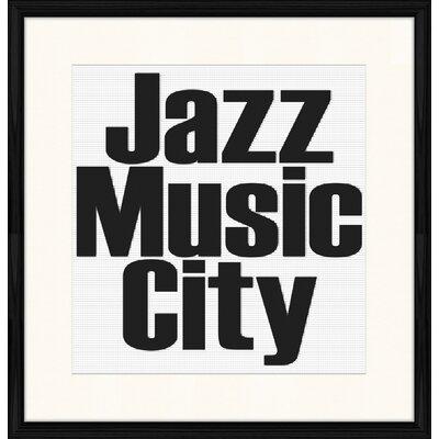 LivCorday Jazz Music City Framed Typography