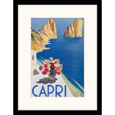LivCorday Capri Framed Vintage Advertisement