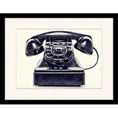 LivCorday Vintage Telephone Framed Photographic Print