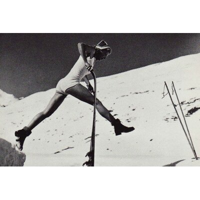 LivCorday Vintage Ski and Lifestyle Image Photographic Print Wrapped on Canvas