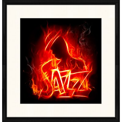 LivCorday Jazz Compostion 2 Framed Graphic Art