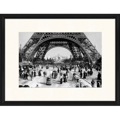 LivCorday Eiffel Tower in 1900's Framed Photographic Print