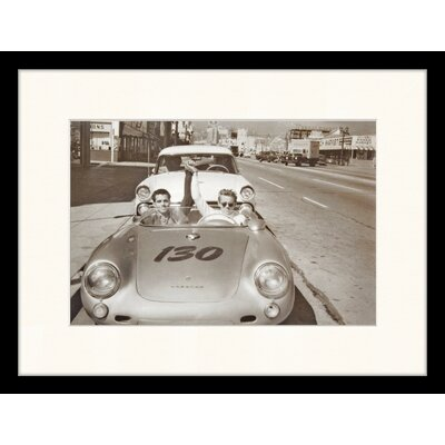 LivCorday James Dean in the Car That He Died 5 Hours Later Framed Photographic Print