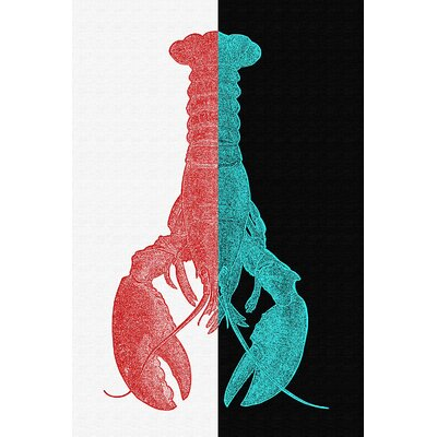LivCorday Lobster Hot and Cold Graphic Art Wrapped on Canvas