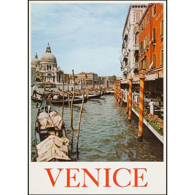 LivCorday Venice Travel Vintage Advertisement Wrapped on Canvas