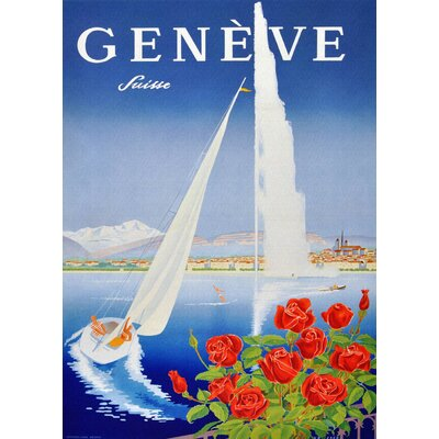 LivCorday Geneve Travel Vintage Advertisement Wrapped on Canvas