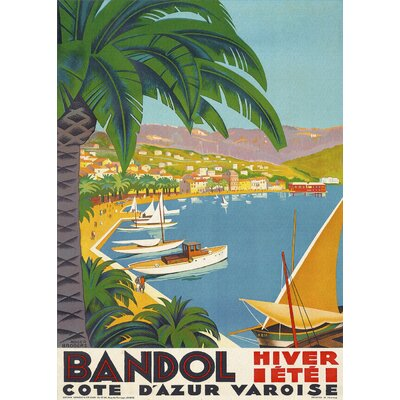 LivCorday Bandol Travel Vintage Advertisement Wrapped on Canvas