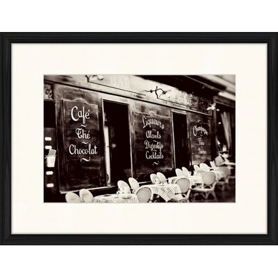 LivCorday Cafe in Paris Framed Photographic Print