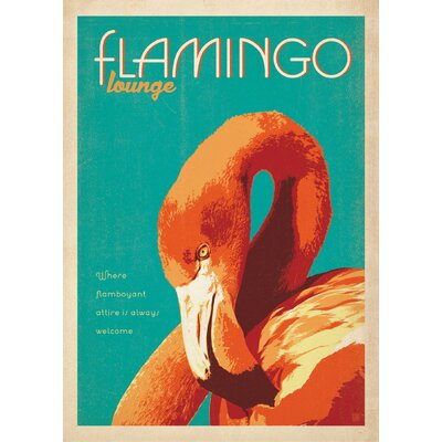 LivCorday Flamingo Vintage Advertisement Wrapped on Canvas