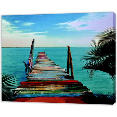 LivCorday The Waters Edge Art Print Wrapped on Canvas