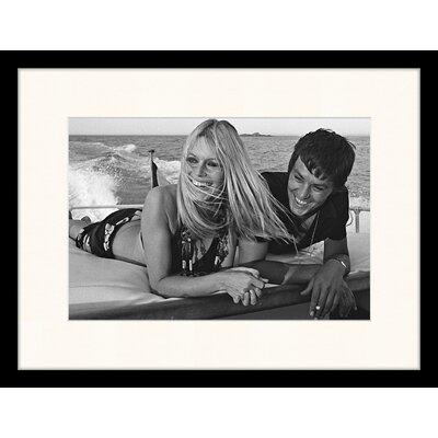 LivCorday Brigitte Bardot and Alain Delon in St. Tropez, 1968 Framed Photographic Print