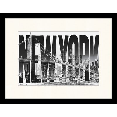 LivCorday New York Framed Graphic Art