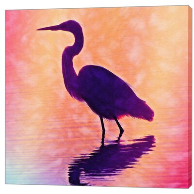 LivCorday Lake Bird Art Print Wrapped on Canvas
