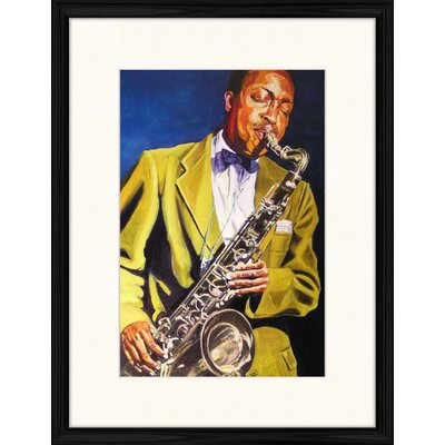 LivCorday Painting of Hank Mobley Framed Art Print