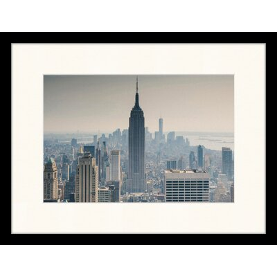 LivCorday Manhattan View of the Empire State Building Framed Photographic Print