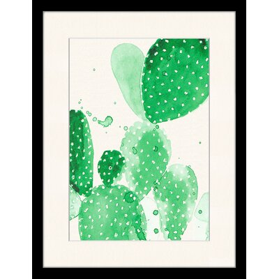 LivCorday Cactus Central Framed Graphic Art